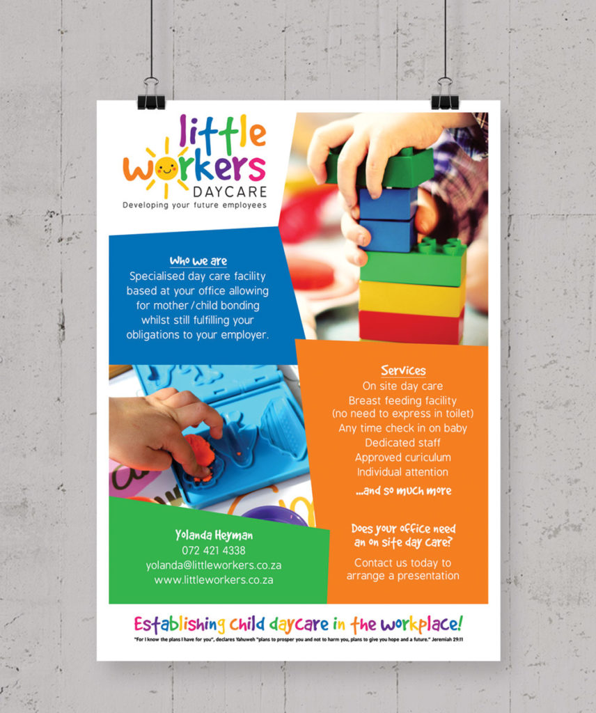 Little Workers Daycare flyer
