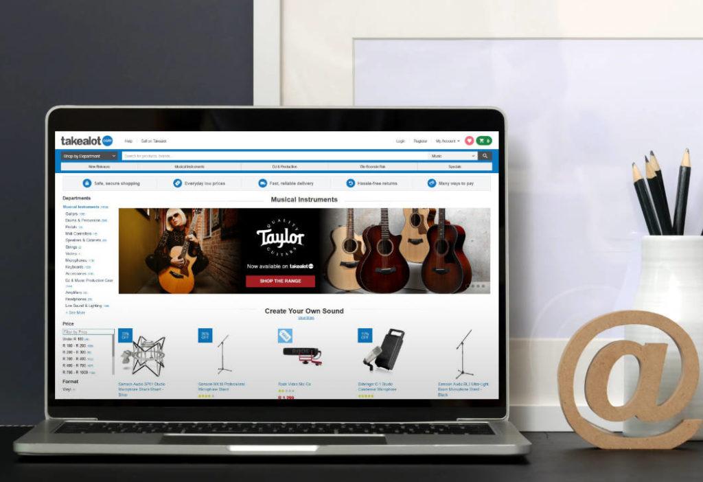 Taylor Guitar website banner