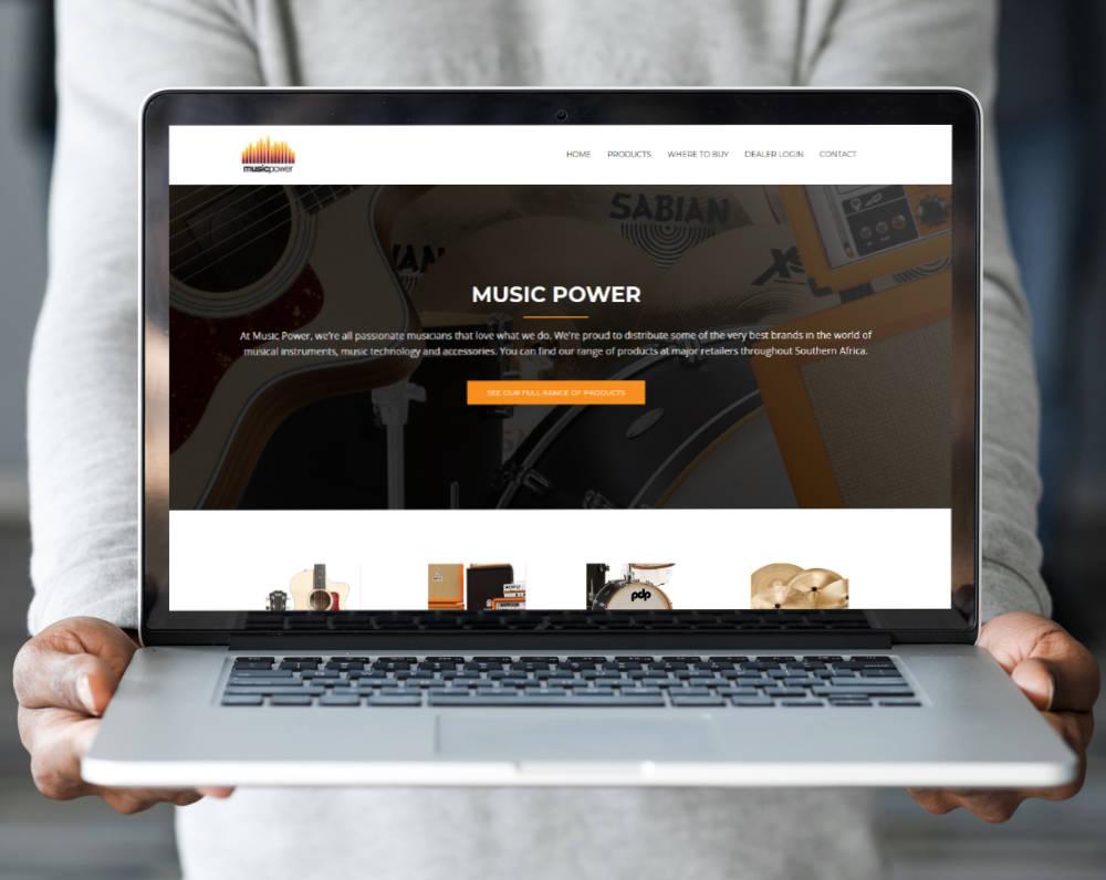 Music Power website